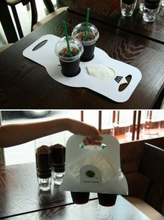 Cup Holder. This is similar to what Tyla was explaining however a square piece of wood with circles cut and names either modpodged or vinyl cut for the family.