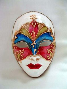Volto Roma Liberty – Venetian Masks – 1001 Venetian Masks Volto Roma Liberty – Handmade Venetian Masks from Venice, Italy – 1001 Venetian Masks Venetian Carnival Masks, Venetian Masquerade, Masquerade Masks, Paper Mache Mask, Ceramic Mask, Venice Mask, Mask Drawing, Mask Painting, Beautiful Mask