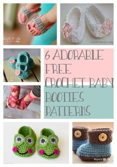 Baby booties are adorable and make great gifts! Here are 6 free crochet baby…