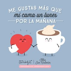 """Y eso es gustarme mucho, mucho, mucho… I like you more than my bed on a Monday morning. And that means I like you very,…"" Cute Images, Funny Images, Letters To My Husband, Movie Subtitles, Love Phrases, Original Gifts, Love Illustration, Some Quotes, More Than Words"