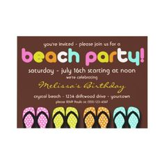 Beach Party Invitation
