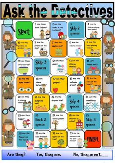 Detective Boardgame:Verb 'to be' Third Person Plural