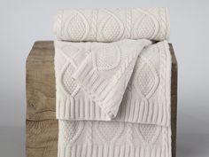 plaid tricot torsadé