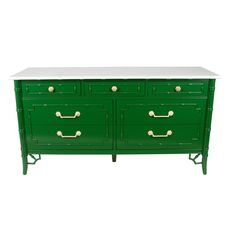 Lacquered Bamboo-Style Dresser