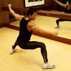 Donnie Yen at the gym