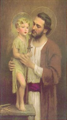 St. Joseph. He was a hard-working man of great understanding and love! A man all men should look up to!
