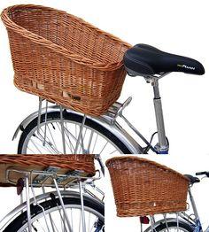 dog baskets for a bike | Basil Wicker Quick Release Rear Bike Dog Basket Large (50cm) £74.99 ...