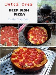 Dutch Oven Deep Dish Pizza