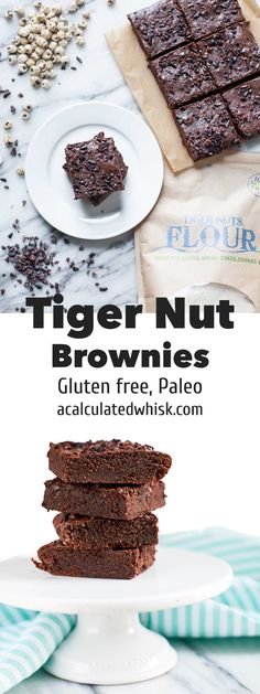 Tiger Nut Brownies + Tiger Nut Flour Giveaway | acalculatedwhisk.com