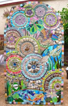 Mosaic Gifts - handmade mirrors, mosaics and jewellery Pebble Mosaic, Mosaic Wall, Mosaic Glass, Mosaic Tiles, Glass Art, Stained Glass, Mosaic Pots, Mosaic Mirrors, Sea Glass