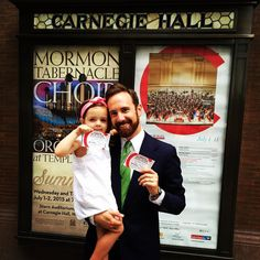 I took Eleanor out on a daddy-daughter date last night to see the #MormonTabernacleChoir at #CarnegieHall. She felt special. That makes me happy.