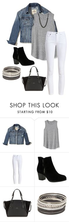 """""""Casual Outfit 2"""" by volleyball-013 on Polyvore featuring Hollister Co., Gap, Barbour, Skechers, Coach and Alexa Starr"""