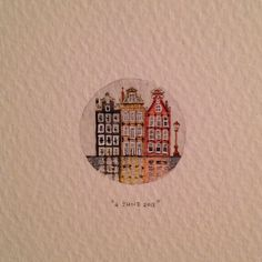 Day 155 : Regop huisies. 22 mm x 22 mm. #amsterdam #365paintingsforants…