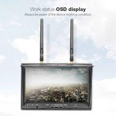 Eachine lcd5802d 5802 5.8G 40ch 7-дюймовый монитор с FPV видеорегистратор построить в батарее