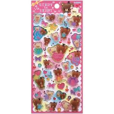 hard plastic 3D glitter stickers with animals