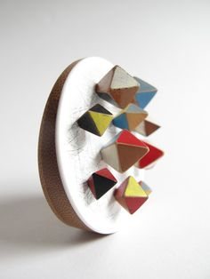 Brooch by Katy Hackney, represented by Contemporary Applied Arts at Collect 2012