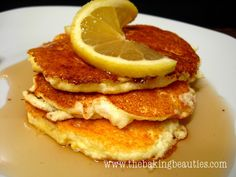 These naturally Gluten Free Ricotta Lemon Pancakes are light in texture, and heavy on lemon flavour.