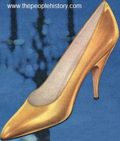 1960 Gold Leather Opera Pump