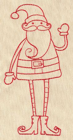Skinny Santa | Urban Threads: Unique and Awesome Embroidery Designs