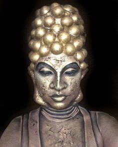 Gold Buddha Makeup. Gold Statue Makeup. Prosthetics and face & body art