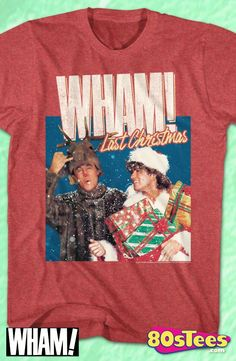 cafea0edc George Michael Last Christmas WHAM! T-Shirt Christmas Vacation Shirts,  Funny Christmas Shirts