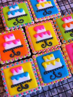 Cake cookies by Heidissweetshoppe on Etsy