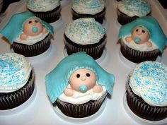 Baby Boy Shower Cupcakes | Party Cupcake Ideas