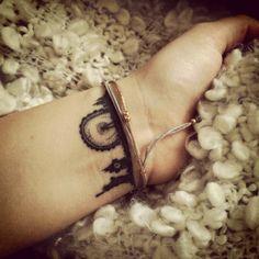Little wrist tattoo of the skyline of New York and London on Nina. - Little…