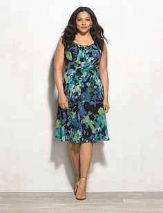 db Signature™ Plus Size Abstract Floral Ella Dress