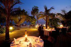 Koamas Restaurant Beach Dining at Kuredu Island Resort in the Maldives Kuredu Maldives, Kuredu Island, Restaurant On The Beach, Maldives Holidays, Overwater Bungalows, Sailing Trips, Beach Villa, Crystal Clear Water, Paradise Island