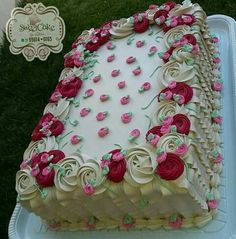 Cake Icing, Buttercream Cake, Eat Cake, Cupcake Cakes, Frosting, Cake Decorating Designs, Cake Decorating Videos, Cake Decorating Techniques, Pretty Cakes