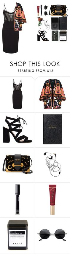 """""""🖤though i battled blind, love is a fate resigned. memories mar my mind, love is a fate resigned."""" by the-mighty-kc ❤ liked on Polyvore featuring H&M, Smythson, Prada, Make, FREDS at Barneys New York and Retrò"""