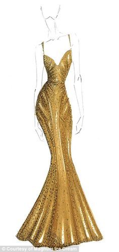 Zac Posen sketch - Gold Dress  Gold director in USANA!!! that is me!!!  join me- I would love to coach you to success!!! http://www.martiangel.com