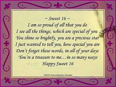 16th Birthday Wishes Happy Daughter Sweet 16 Verses
