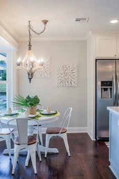 Casual dining never looked so elegant and inviting. HGTV Fixer Upper