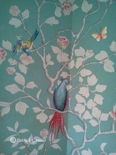 Hand Painted Chinoiserie Murals from Creative Evolution.  See more at:  www.patrickganino.com