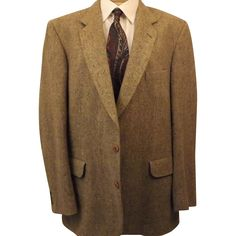 Men's Donegal Tweed Brown Sport Coat by Magee Size 40