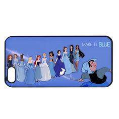 Blue princesses iphone 4 4s case cover