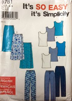 Simplicity 9781 UNCUT Misses Skirt, Pants, and Knit Top by Lonestarblondie on Etsy