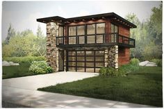 Contemporary,Garage w/Apartments,Modern House Plans - Home Design ...