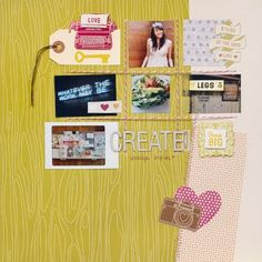 Love, love, love this layout by Amy Tan using Amy Tangerine by American Crafts!!  ♥