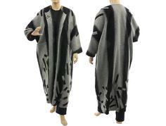 Boho maxi coat duster fall winter spring wool coat von classydress