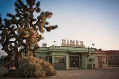 Another image for the dinner, although I imagined it as a two story building with a flat roof and the metal diner sign.  I also imagend the letters a little closer together and with marquee lighting, the bulbs broken and crunching under foot.