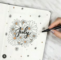 17 Superb Summer Bullet Journal Layouts To Copy! - Summer is here and it's time to start thinking about Summer Bullet Journal themes. And setting up - Bullet Journal 2019, Bullet Journal Themes, Bullet Journal Spread, Bullet Journal Layout, Bullet Journal Inspiration, Bullet Journal Month Page, Bullet Journal Cover Ideas, Journal Covers, Journal Pages