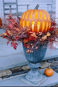 Fall Porch Decoration