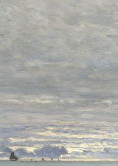La Pointe de la Hève, Sainte-Adresse (detail), Monet, 1864