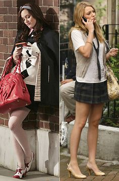 """School Uniforms  Eric Daman made sure Blair and Serena's school uniforms reflected their individulaity. """"In the books, Serena only has her skirt from sophomore year, so it's short,"""" Daman told us. """"She sometimes wears t-shirts instead of blouses. With Blair, she wears capes and blazers, it's very Upper East Side."""""""