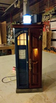 Your place to buy and sell all things handmade WhoLock Baker st. Doctor Who Craft, Jewellery Box Making, Jewelry Box, Street Lamp, Book Nooks, Dr Who, Tardis, Woodworking Projects, Geek Stuff