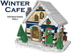 Winter Cafe Custom Lego Winter Village Building Instructions Only | eBay