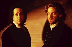 Kenneth Branagh as Victor Frankenstein and Tom Hulce as Henry Clerval in Mary Shelley's Frankenstein (1994)
